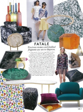 Belle August 2014 - Malachite Platter