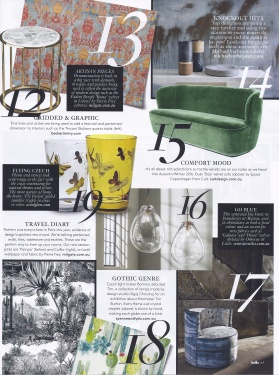VOGUE Living - January/February 2016 - Arquiste Art Deco, Carlos in store