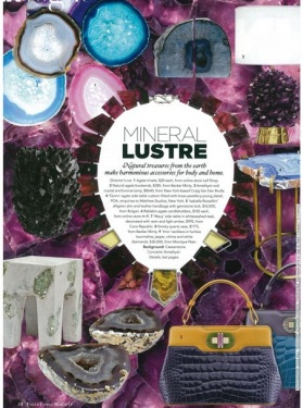 Vogue Living March 2013 - Agate bookends and McCoy Crystal vase