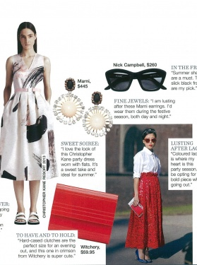 Marie Claire - Nick Campbell Eyewear - December 2012