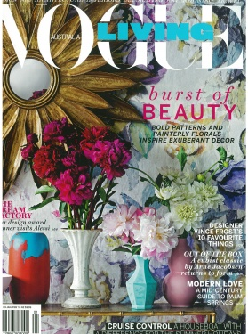 VOGUE LIVING - JAN/FEB 2015 - Brass and Ceramic Console Table