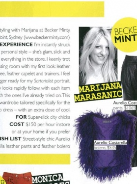 Grazia - Our own uber stylist Marijana Marsanic included in a round up of Australia's best instore stylists.