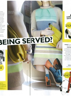 Grazia - Our own uber stylist Marijana Marsanic included in a round up of Australia's best instore stylists. Dijanna Mulhearn gives her verdict in Grazia magazine.
