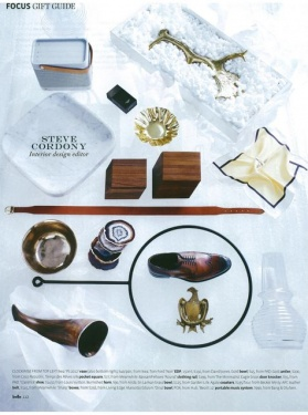 BELLE Gift Guide - Gold trimmed agate coasters - DEcember 2012